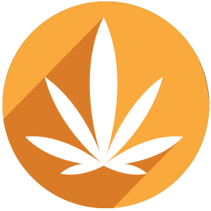 Marijuana leaf icon yellow