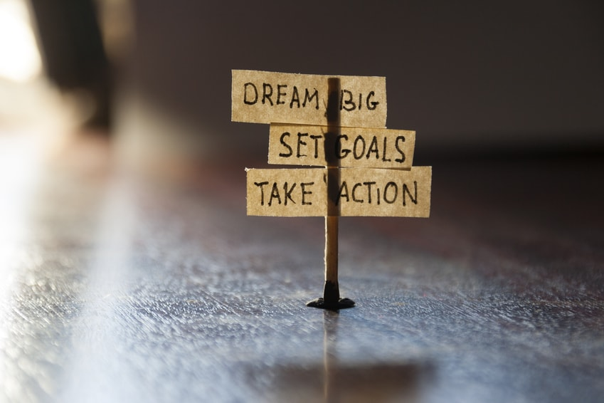Dream, Set Goals, Take Action. 3 Words