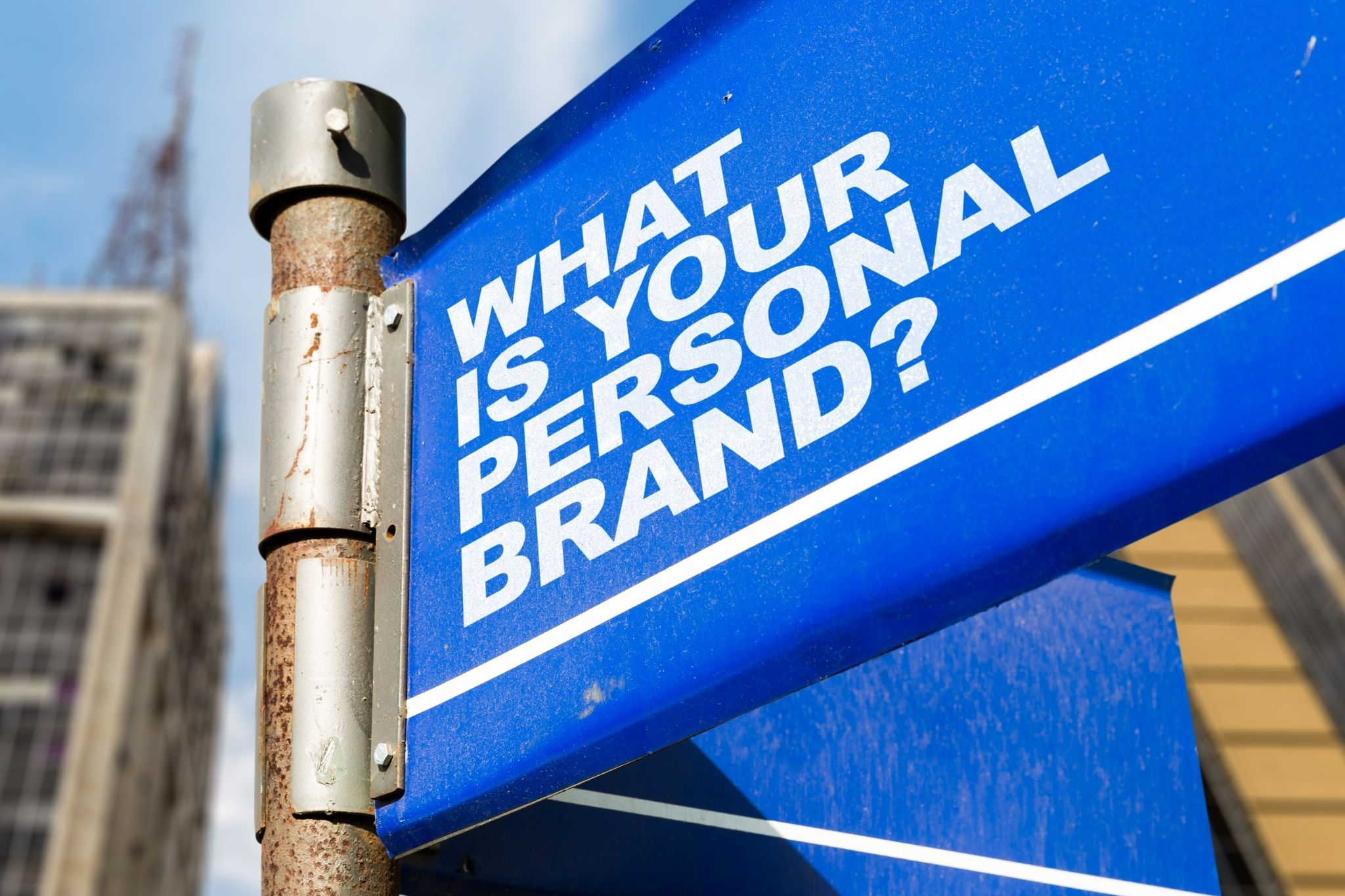 what is your personal brand street sign - how to grow your branding with brandon birkmeyer
